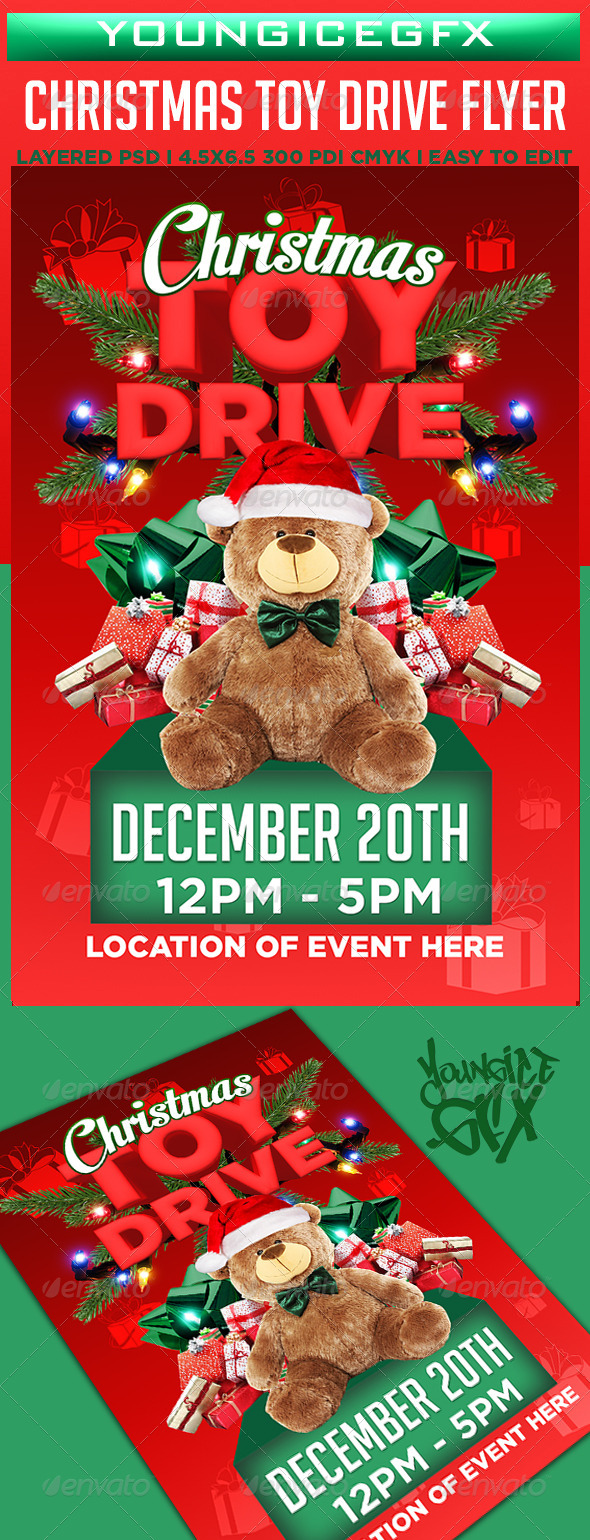 GraphicRiver Christmas Toy Drive Flyer Template 6096774