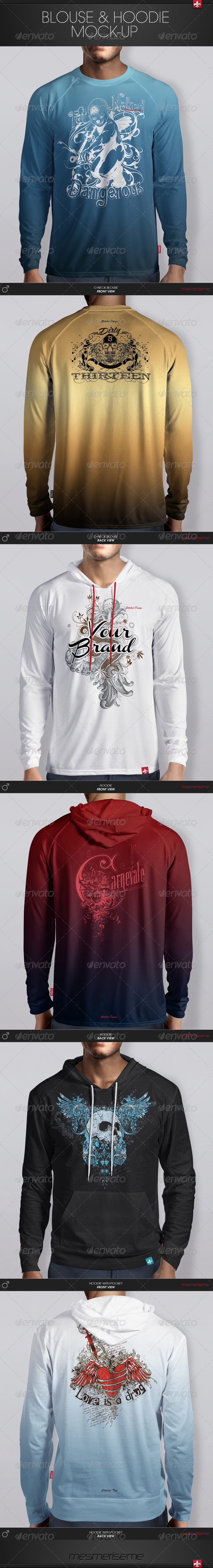 GraphicRiver Hoodie & Blouse Mock-up 6135827