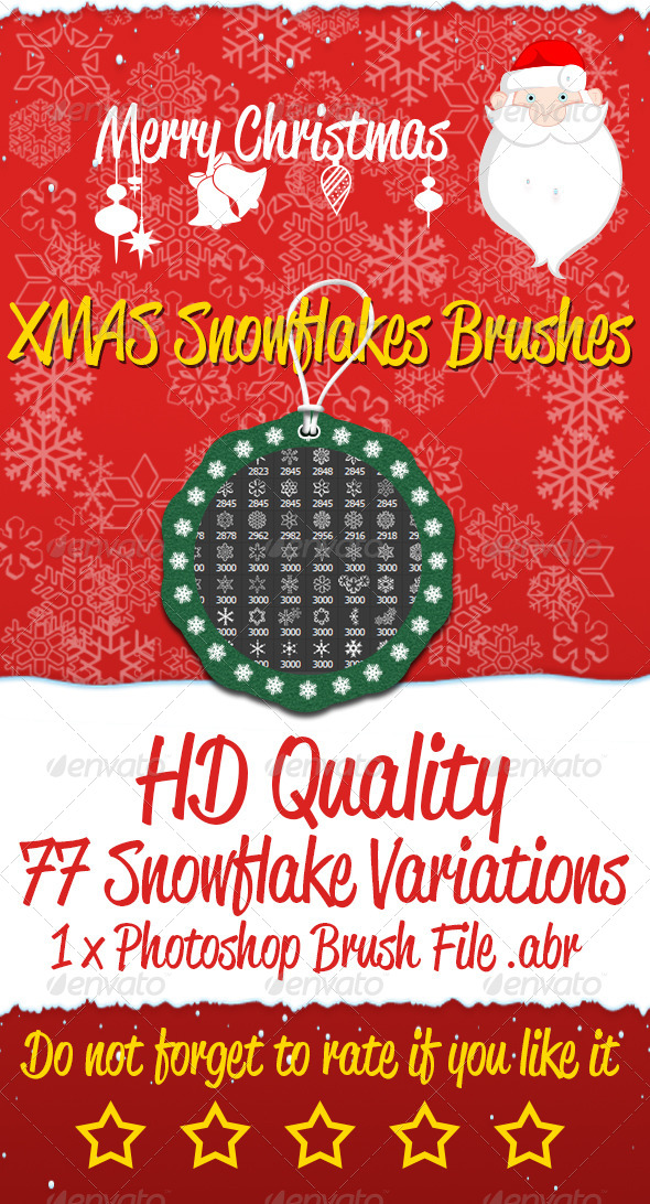 GraphicRiver XMAS Snowflakes Brushes 6135970