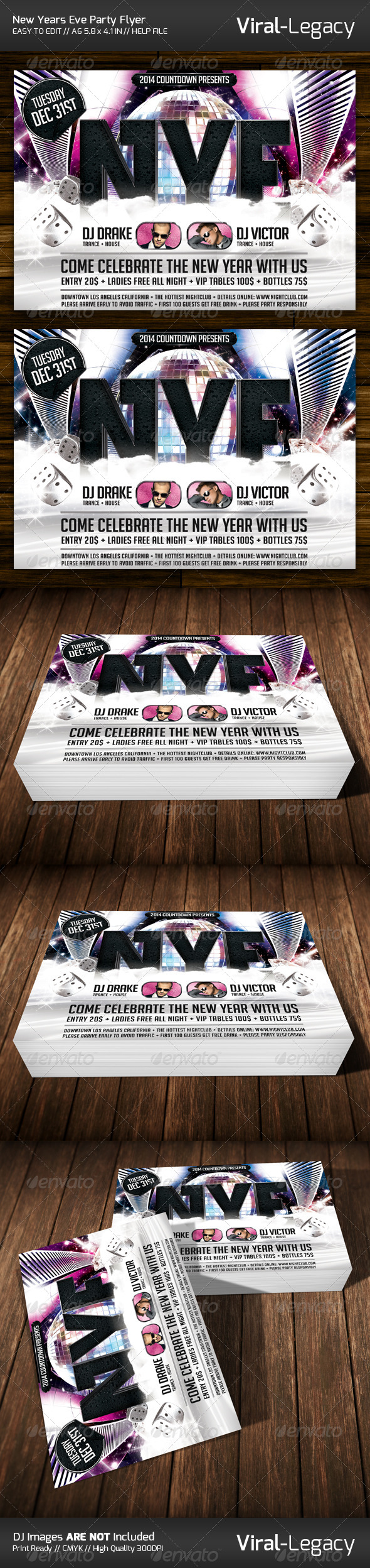 GraphicRiver New Years Eve Party Flyer 6136117