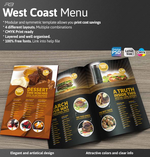 GraphicRiver West Coast Menu Template 6096071