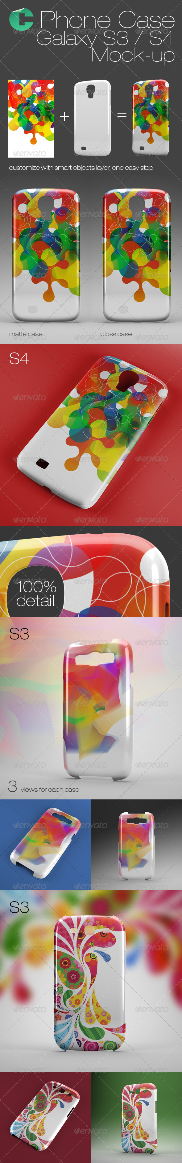 GraphicRiver Phone Case Mock-Up Galaxy S3 S4 6136196