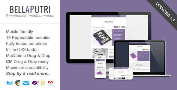 Bellaputri - Usable, Responsive Email Template