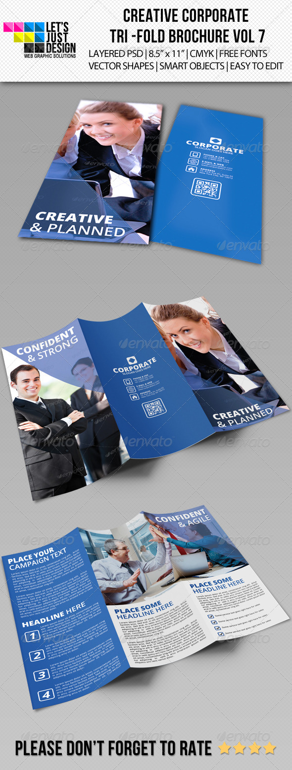GraphicRiver Creative Corporate Tri-Fold Brochure Vol 7 6136299