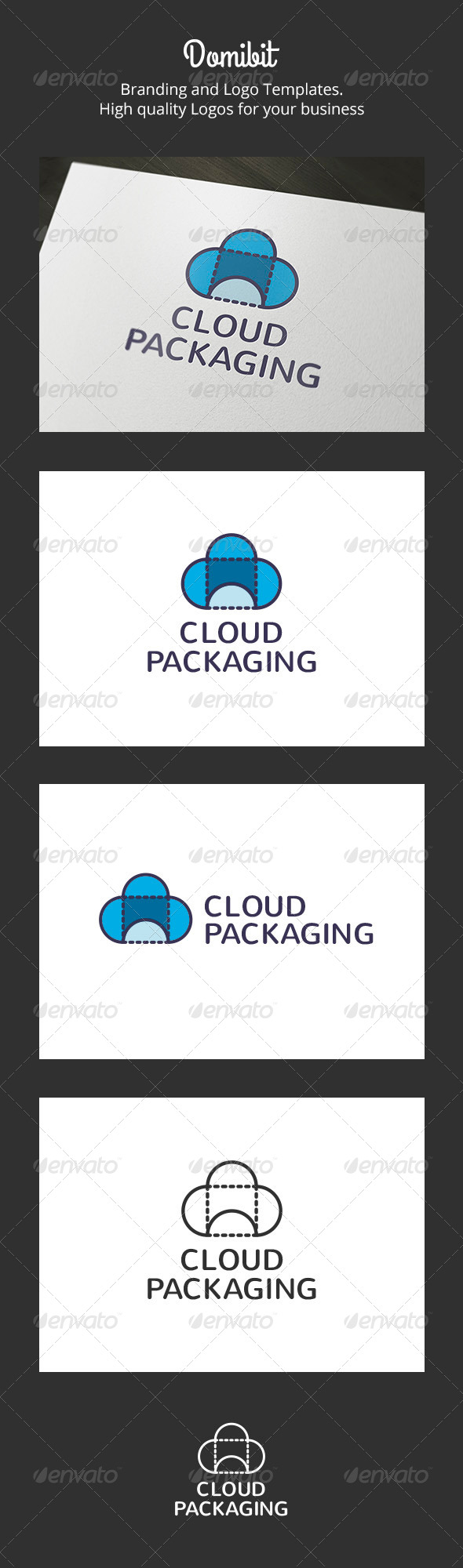 GraphicRiver Cloud Packaging Logo 6136319