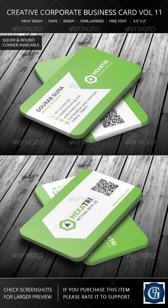 GraphicRiver Creative Corporate Business Card Vol 11 6136320