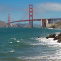 Panorama of the golden gate bridge, San Francisco 2012