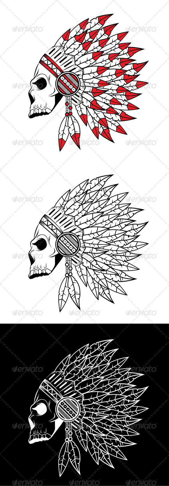 GraphicRiver Indian Skull 6136429