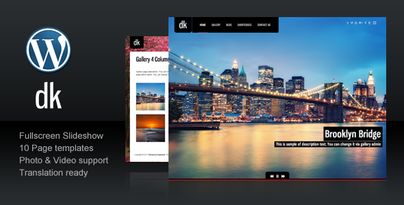 DK For Photography Creative Portfolio - ThemeForest Item for Sale