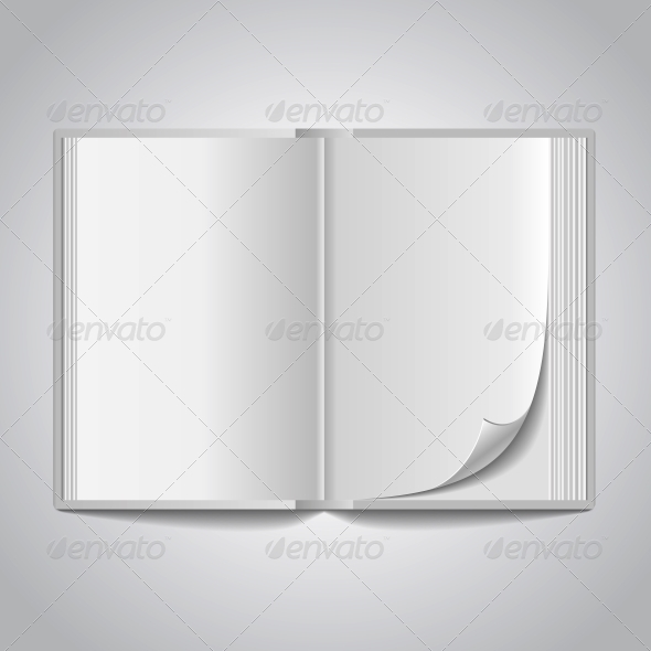 GraphicRiver Vector Open Blank Book 6137196