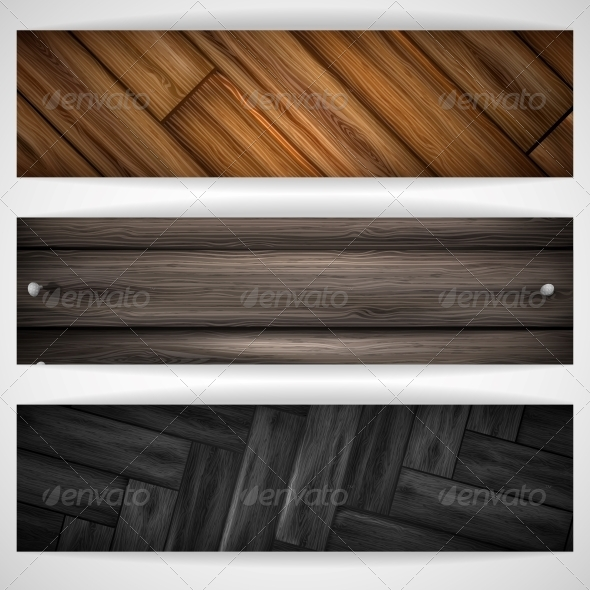 GraphicRiver Wooden Grey Banner 6137486