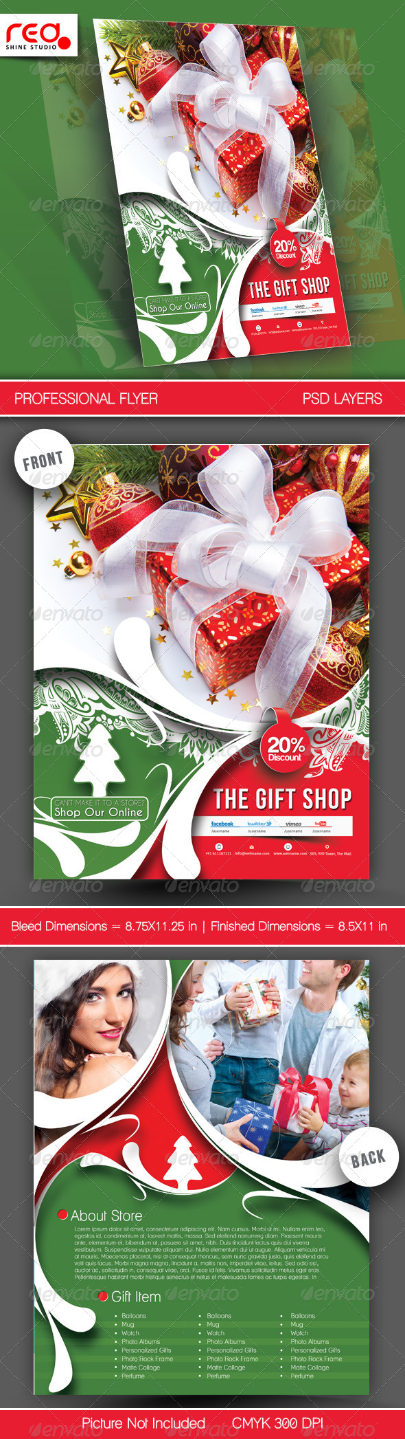 Gift Shop Flyer Poster Template 2