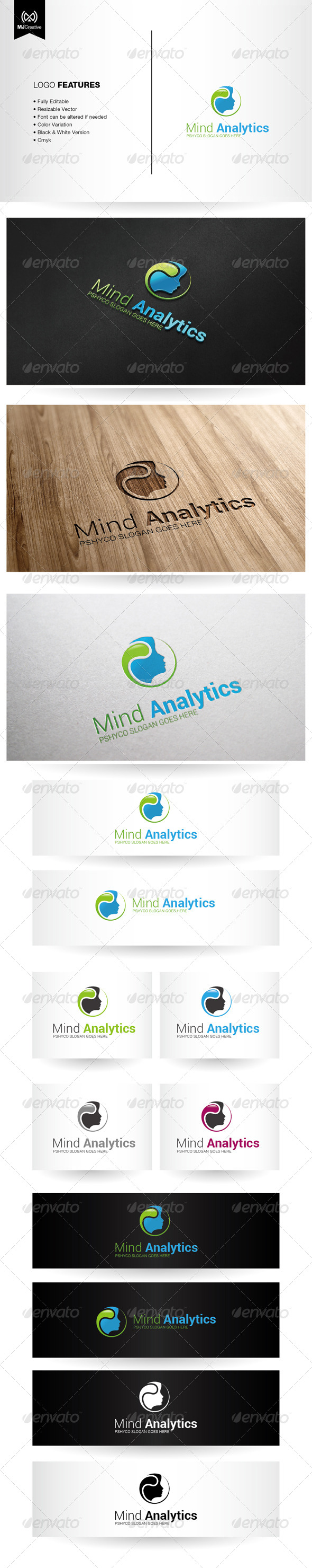 GraphicRiver Mind and Psychology Logo 6137634