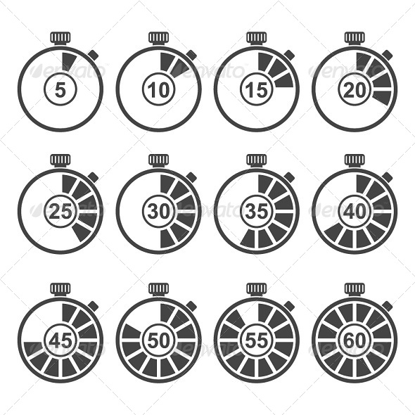 GraphicRiver Timer Icon Set 6137741