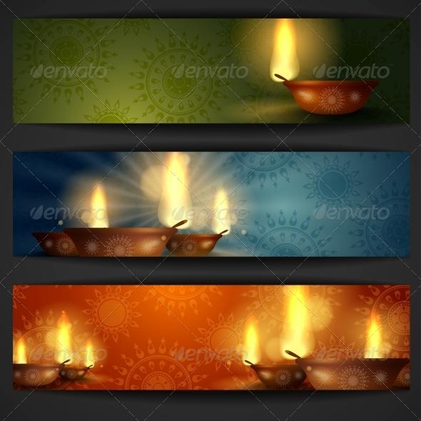GraphicRiver Happy Diwali Background 6137767