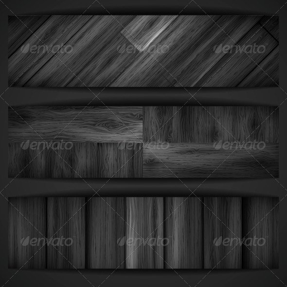 GraphicRiver Wooden Grey Banner 6137776