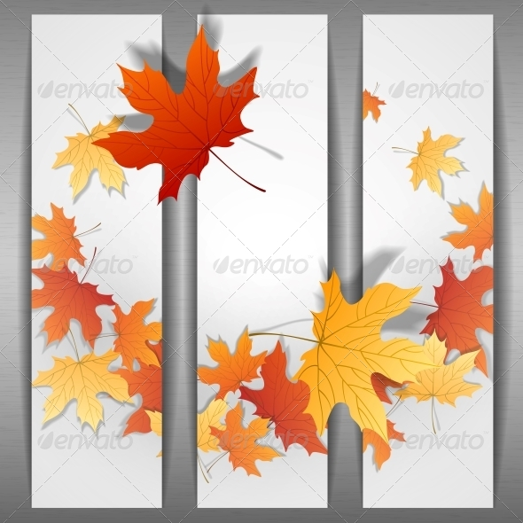 GraphicRiver Autumn Leaves Background 6138109