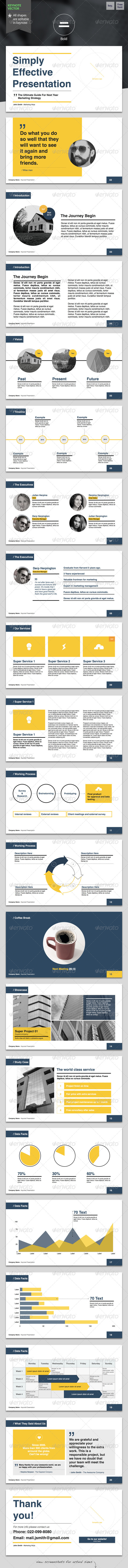 GraphicRiver Bold Keynote Template 6114781