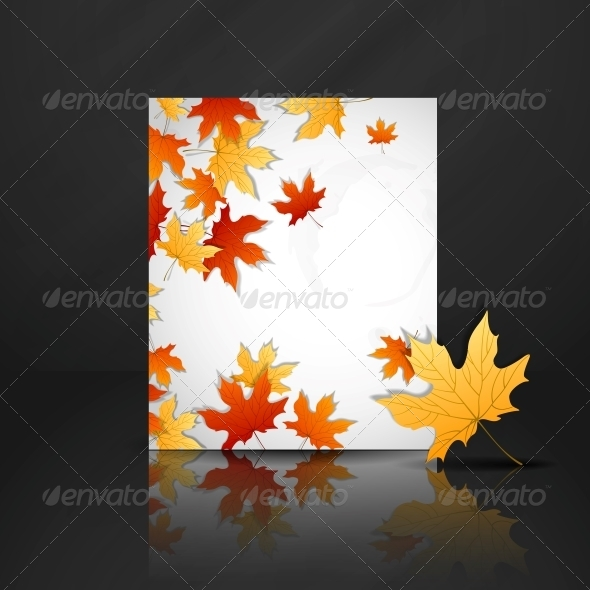 GraphicRiver Autumn Leaves Background 6138499