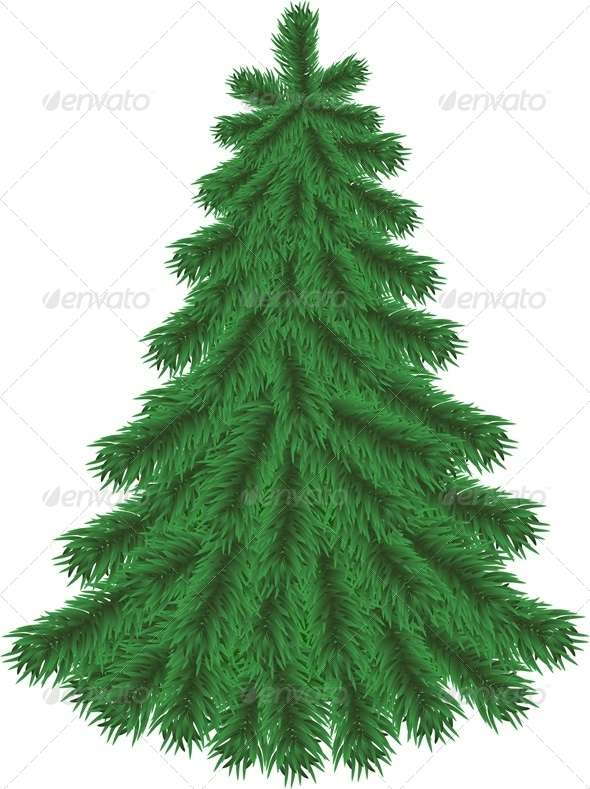GraphicRiver Fir Tree without Christmas Decorations 6138532