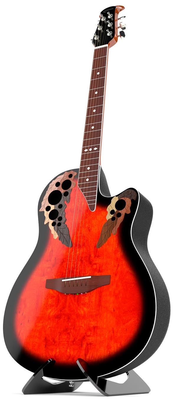 Ovation Standard Elite guitar 3d model  - 3DOcean Item for Sale