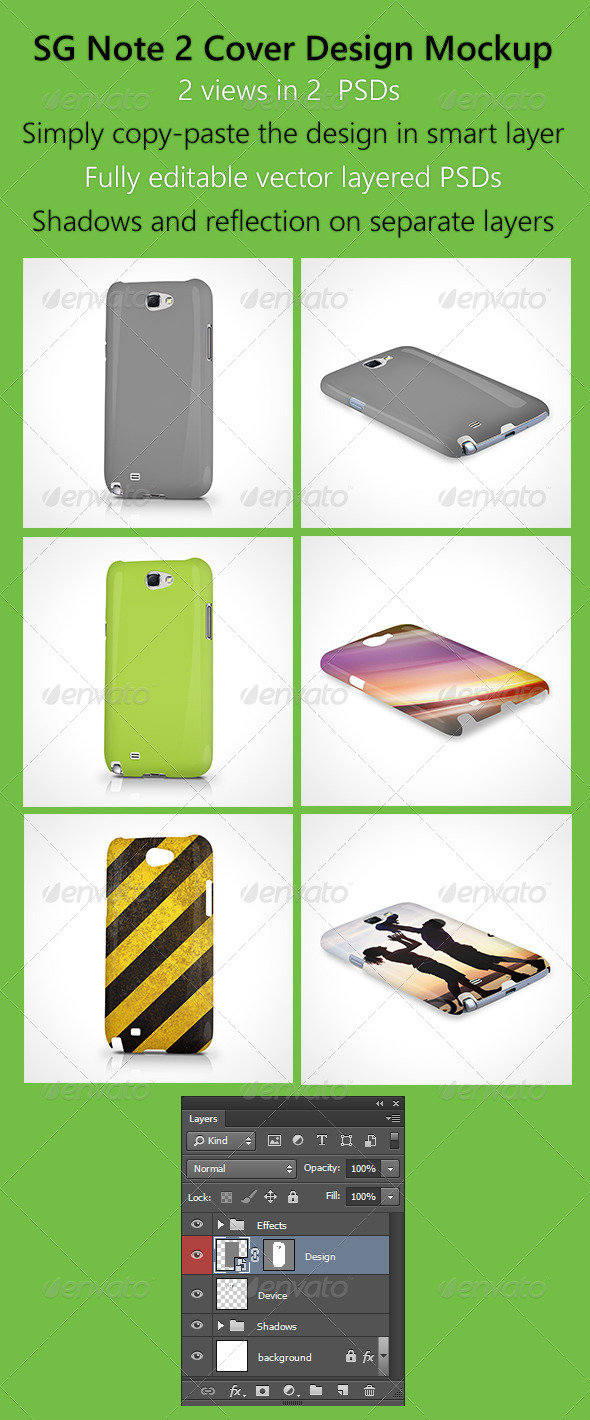 GraphicRiver SG Note 2 Cover Design Mockup 6138855