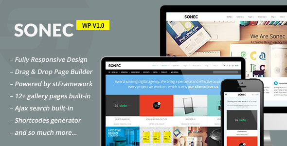 ThemeForest Sonec Business Portfolio and Photography Theme 6081268