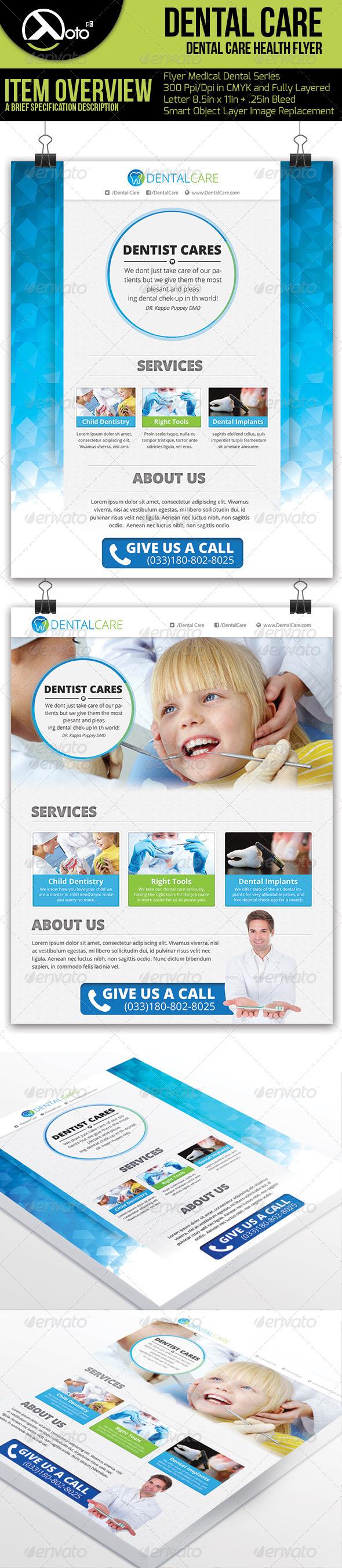 GraphicRiver Medical Dental Care Health Flyer 6139399