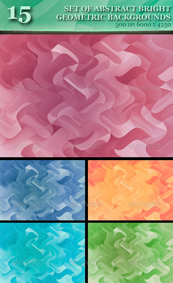 GraphicRiver Set of Abstract Colorful Geometric Backgrounds 6139448