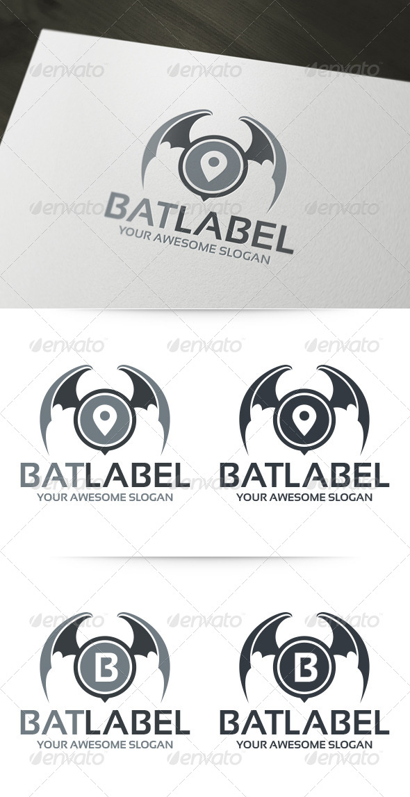 GraphicRiver Bat Label Logo 6139491
