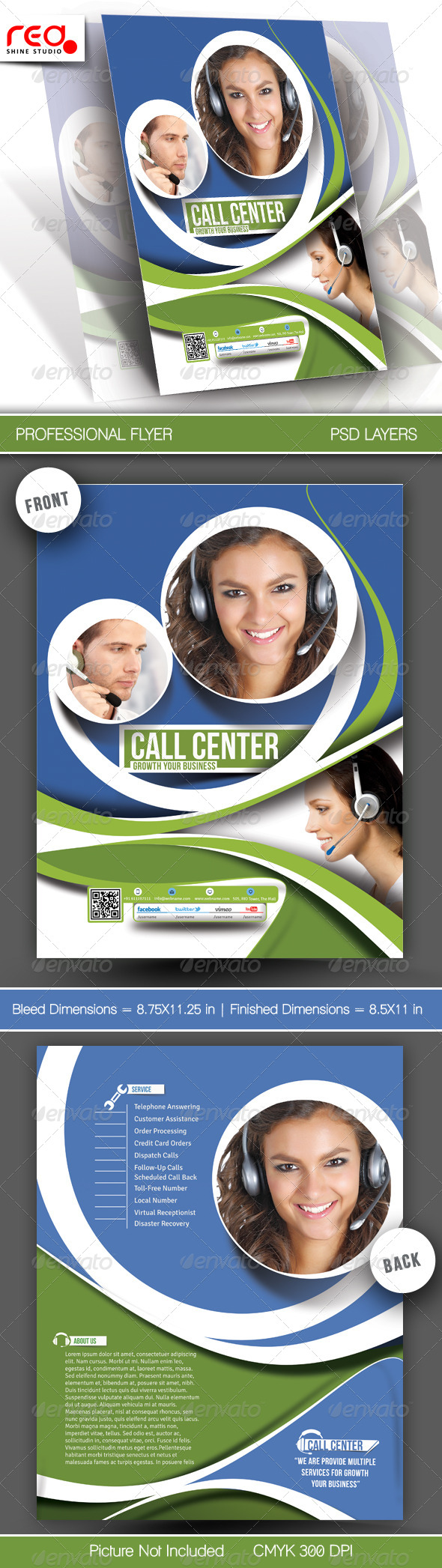 GraphicRiver Customer Support Flyer & Poster Template 3 6139930