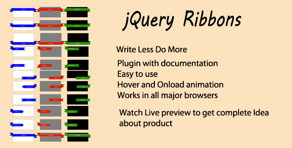 Jquery Ribbon Plugin