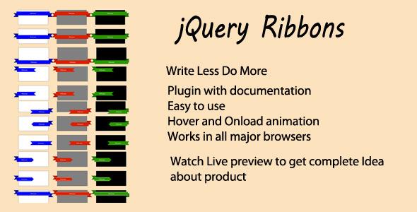 CodeCanyon Jquery Ribbon Plugin 6139957