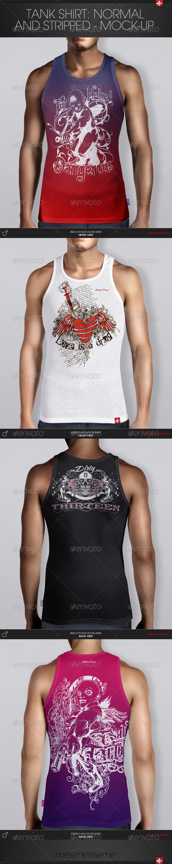 GraphicRiver Tank Shirt Mock-up 6121178