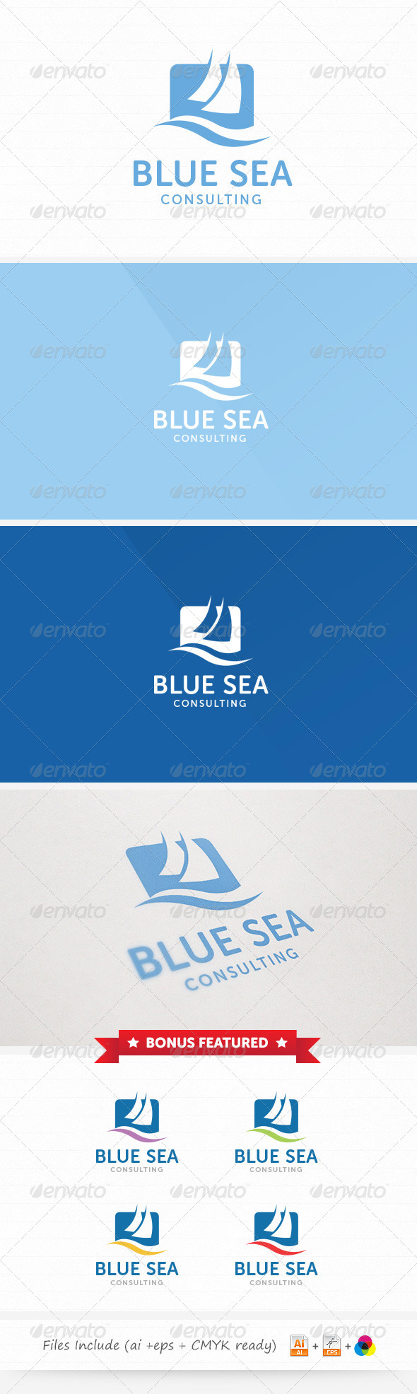 GraphicRiver Blue Sea Consulting Logo 6135418