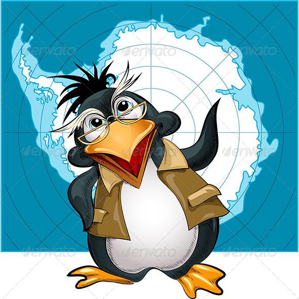 GraphicRiver Penguin Lecturer 6140229