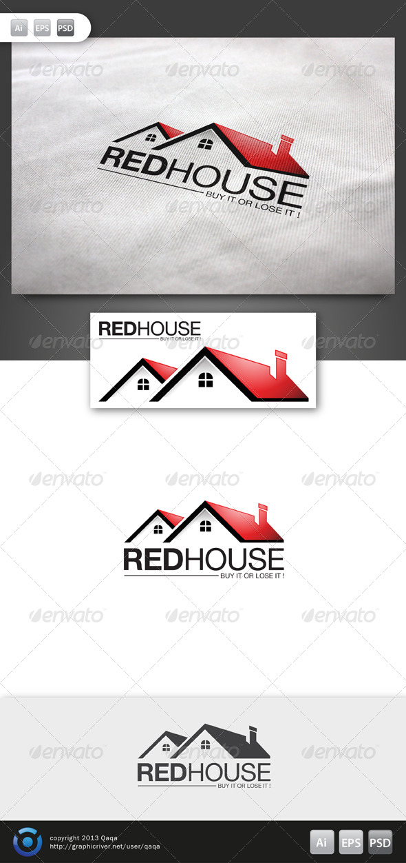 GraphicRiver Red House Logo 02 6140297