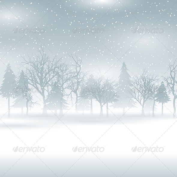 GraphicRiver Winter Landscape 6140343