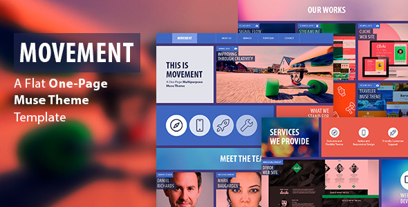 Movement - One Page Muse Template