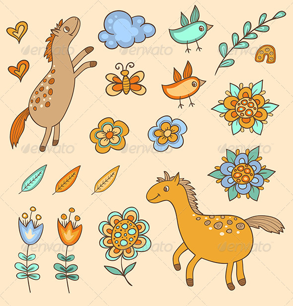 GraphicRiver Set of Doodle Design Elements 6141998