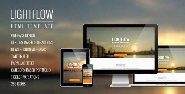 ThemeForest Lightflow Responsive One Page Parallax Template 5604404