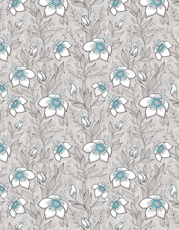GraphicRiver Floral Seamless Pattern 6142155