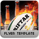 Touch Rugby Beer Game Flyer - GraphicRiver Item for Sale