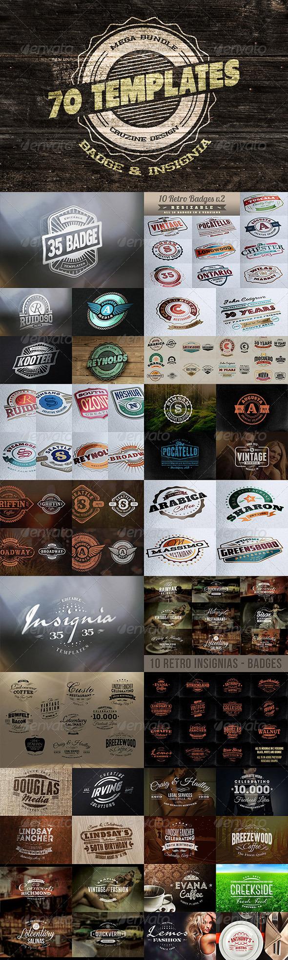 GraphicRiver Logo Badge Insignia Templates Bundle 6142317
