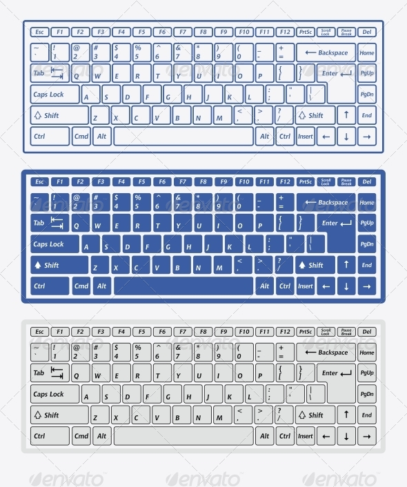 GraphicRiver Computer Keyboards 6143278