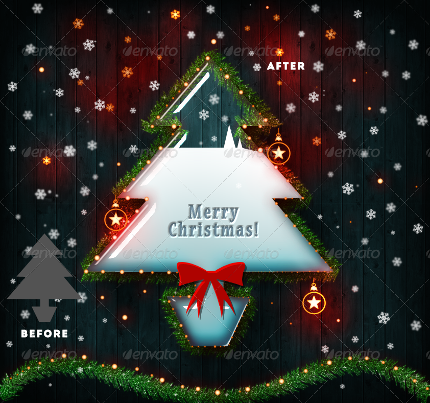 Christmas Tree Photoshop Creator