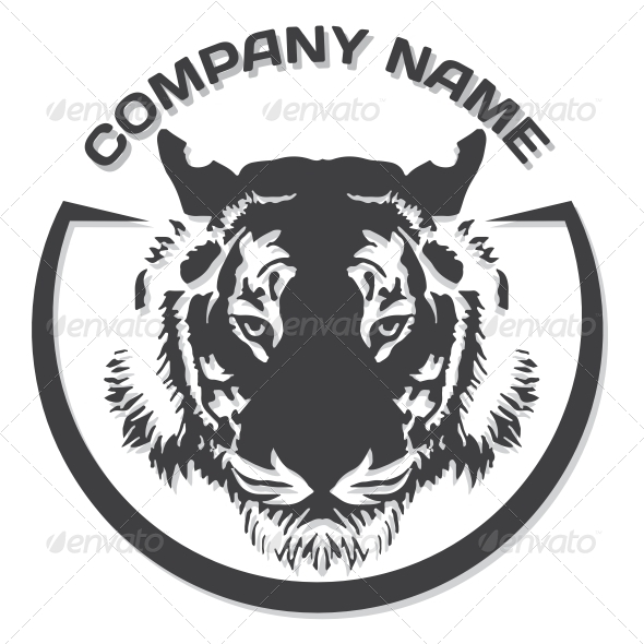 GraphicRiver Tiger Head Silhouette 6143467