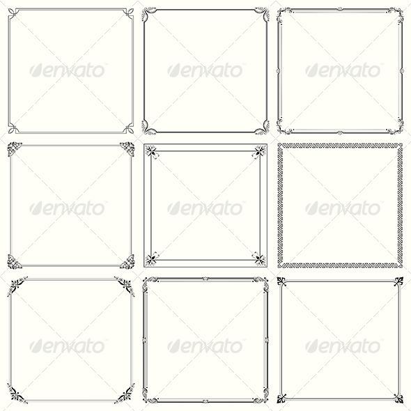 GraphicRiver Decorative Frames 6136953