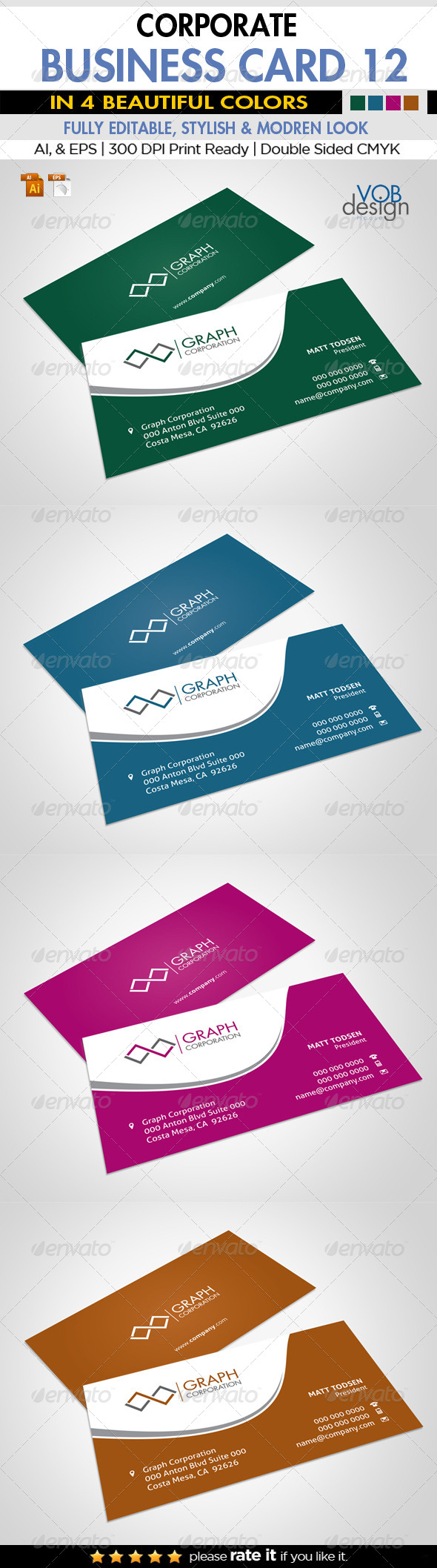 GraphicRiver Corporate Business Card 12 6143937