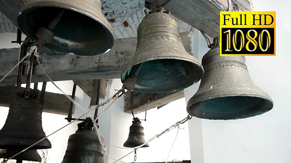 Bell Ringer Plays Church Bells